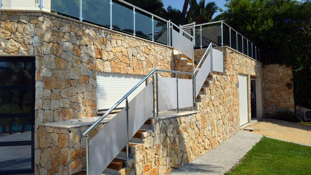 garde corps escaliers alu et verre 2
