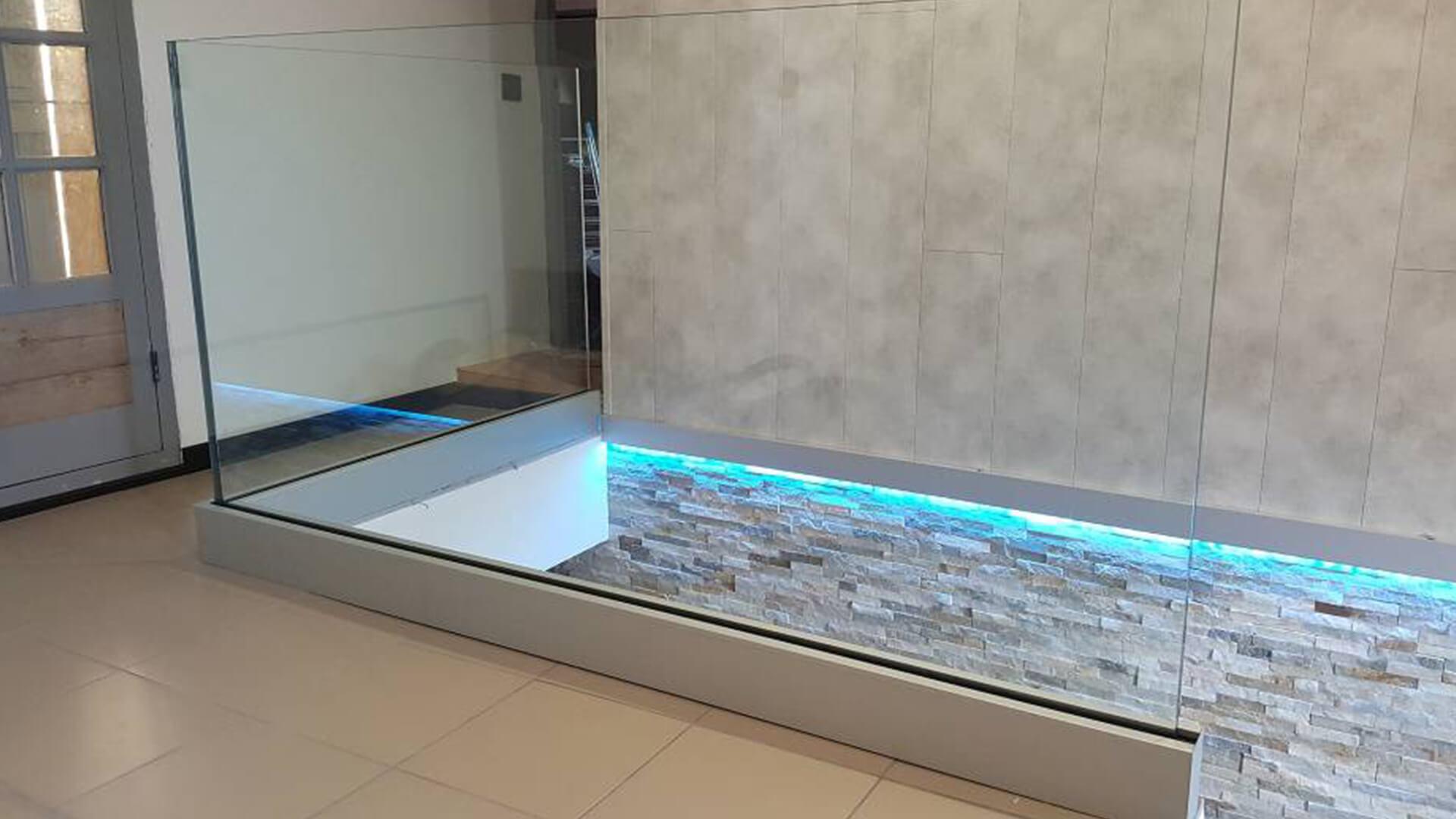 rampe d'escalier et main courante Rampe d'escaliers tout verre